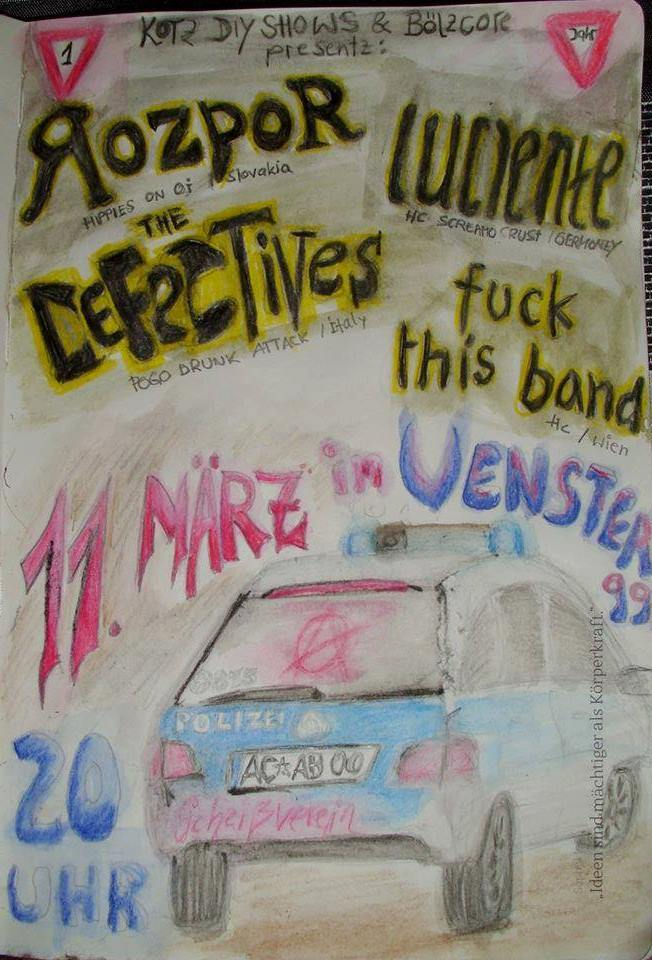 The Defectives // Rozpor // Fuck This Band // Luciente @Venster99