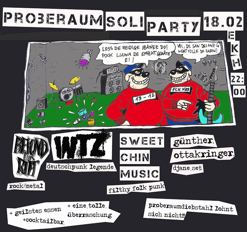 Proberaumsoli mit WTZ (Coverband) // Sweet Chin Music // Beyond This Rift @ekh
