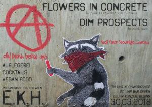DIY Punk Beisl #6. Soli für Rodrigo Lanza mit Flowers in Concrete // Dim Prospects @ekh
