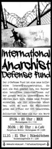 Infoveranstaltung zum Anarchist Defense Fund @ekh