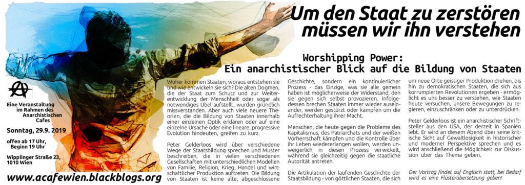 """Anarchistisches Café: """"Um den Staat zu zerstören, müssen wir ihn verstehen"""" @w23"""